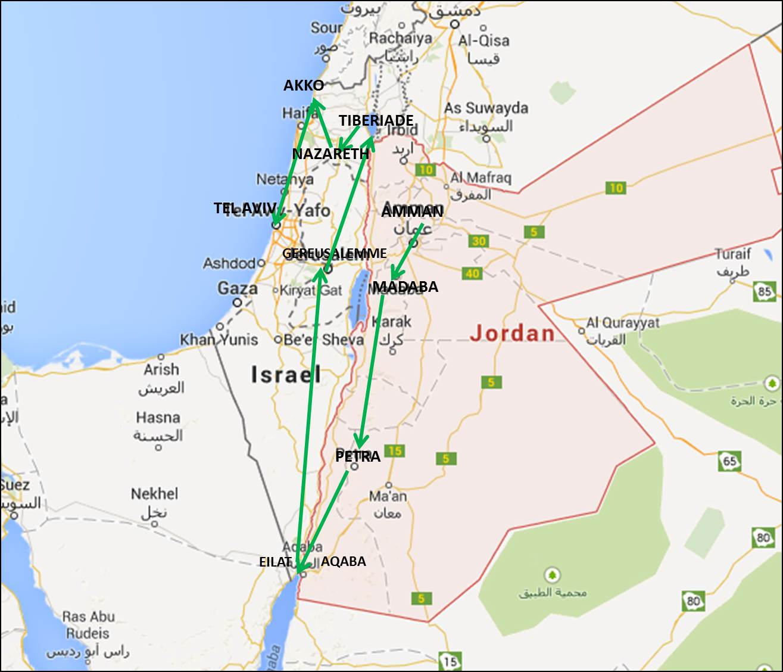 Cartina Di Israele E Giordania.Zaino In Spalla Giordania E Israele