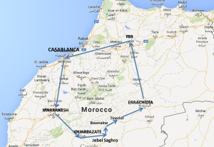 mappa marocco new